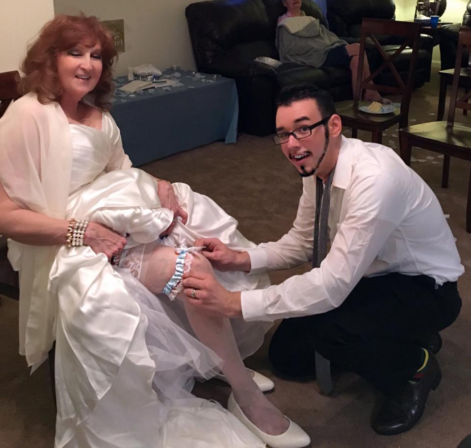 Gary and Almeda Hardwick - on their wedding day (Collect/PA Real Life)